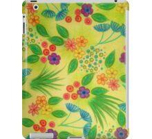 WILDFLOWER FANCY 3 - Cheerful Fresh Green Lovely Floral Garden Pattern Girly Feminine Trendy Flowers iPad Case/Skin