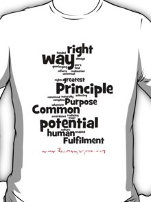 The Common Purpose Wordle (vertical) T-Shirt