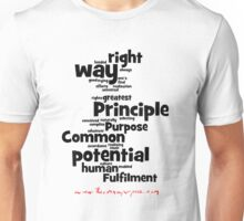 The Common Purpose Wordle (vertical) Unisex T-Shirt
