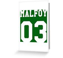 Malfoy 03 Draco malfoy - white Greeting Card