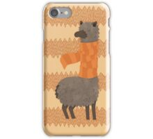 Llama In A Scarf Keeping Warm iPhone Case/Skin
