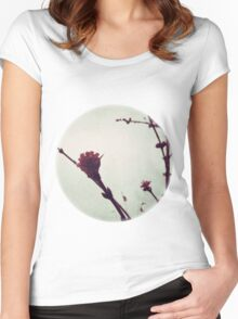 Winter Blossom I Women's Fitted Scoop T-Shirt