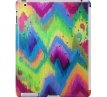 BOLD QUOTATION 2 - Colorful Bright Cheerful Fine Art Chevron Pattern Ikat Quote Modern Painting iPad Case/Skin