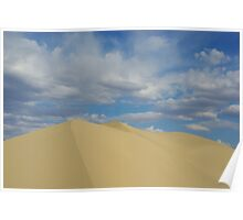 Death Valley dune under beautiful skies Poster