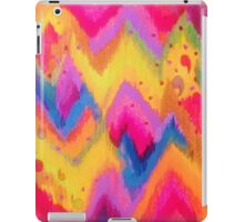 BOLD QUOTATION - Bright Vibrant Neon Quote Chevron Pattern Ikat Rainbow Trendy Design Fun Art iPad Case/Skin