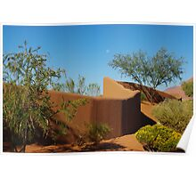 Adobe wall and moon Poster