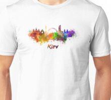 Kiev skyline in watercolor Unisex T-Shirt