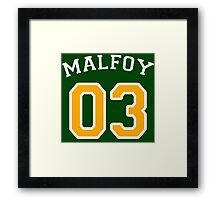Malfoy 03 Draco malfoy - White and yellow Framed Print