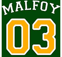 Malfoy 03 Draco malfoy - White and yellow Photographic Print