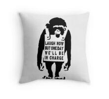 Banksy Monkey Qoute Throw Pillow