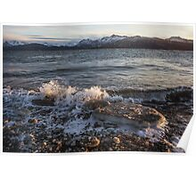 Icy Alaskan Beach Poster