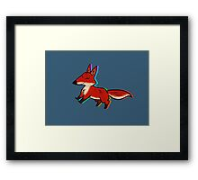 Happy Fox Framed Print