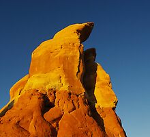 First morning light on rocks, Devils Garden, Utah by Claudio Del Luongo