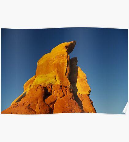 First morning light on rocks, Devils Garden, Utah Poster
