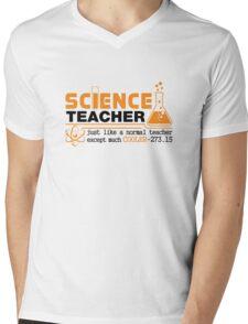Science Teacher Witty Saying Mens V-Neck T-Shirt
