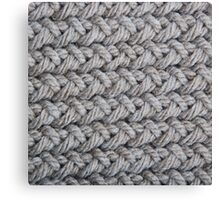 Hip grey sweater texture chunky knit Canvas Print