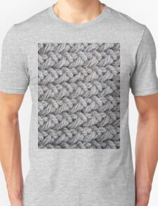 Hip grey sweater texture chunky knit Unisex T-Shirt
