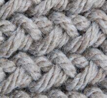 Hip grey sweater texture chunky knit Sticker
