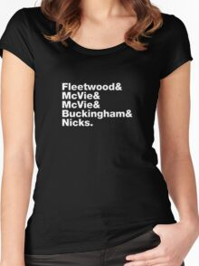 Fleetwood Mac Names Women's Fitted Scoop T-Shirt