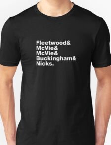Fleetwood Mac Names Unisex T-Shirt