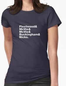 Fleetwood Mac Names Womens Fitted T-Shirt