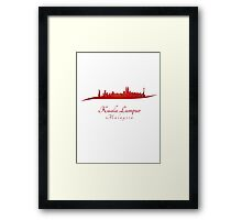 Kuala Lumpur skyline in red Framed Print