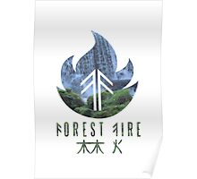 Forest Fire - Waterfall Poster
