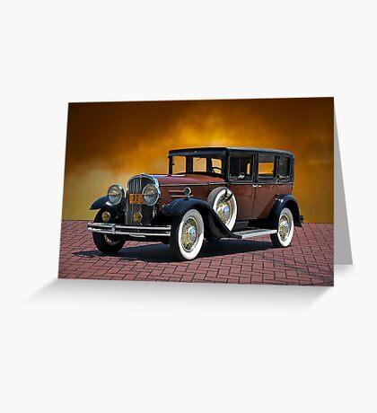 1930 Franklin Formal Sedan Greeting Card