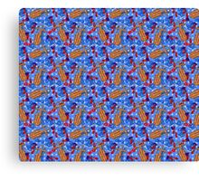 Fun Filled Snow Days (repeat pattern) Canvas Print