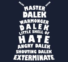 Master Dalek ('Soft Kitty' style) WHITE by starkat