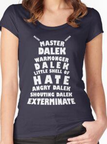 Master Dalek ('Soft Kitty' style) WHITE Women's Fitted Scoop T-Shirt