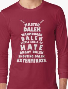Master Dalek ('Soft Kitty' style) WHITE Long Sleeve T-Shirt