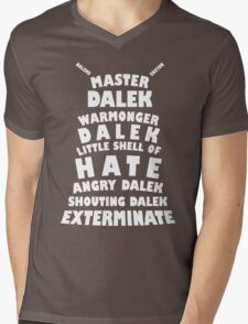 Master Dalek ('Soft Kitty' style) WHITE Mens V-Neck T-Shirt