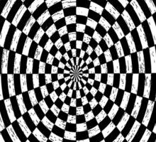 Checkered spiral Sticker