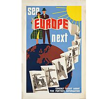 Vintage poster - Europe Photographic Print