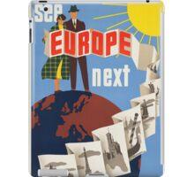 Vintage poster - Europe iPad Case/Skin