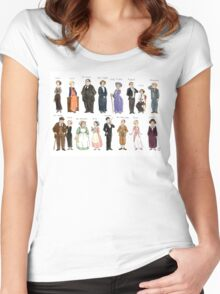 Downton Abbey portraits Women's Fitted Scoop T-Shirt