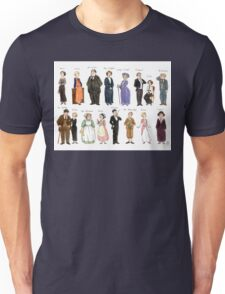 Downton Abbey portraits Unisex T-Shirt