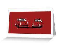 Fiat 500 Comparison Greeting Card