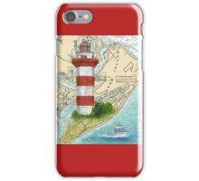 Hilton Head Lighthouse SC Nautical Chart Peek iPhone Case/Skin