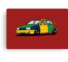 Volkswagen Golf MK3 Harlequin Canvas Print
