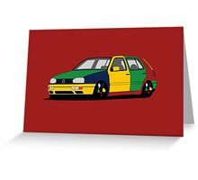Volkswagen Golf MK3 Harlequin Greeting Card