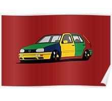 Volkswagen Golf MK3 Harlequin Poster