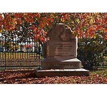 Gettysburg National Park - Ohio Memorial Photographic Print