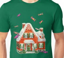 retro candy gingerbread house ugly Christmas Sweater Unisex T-Shirt