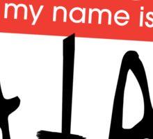 Hello, my name is Satan Sticker