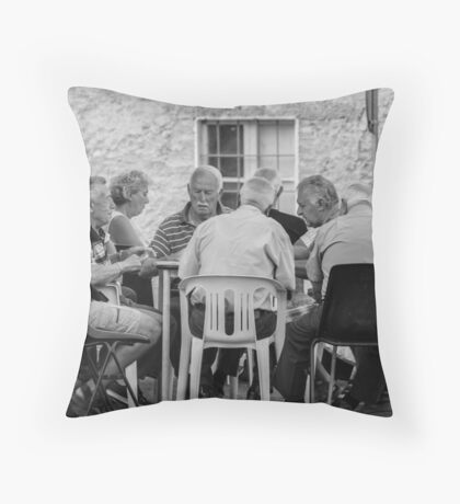 Playing cards in Umbria Throw Pillow