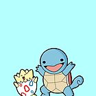 Togepi and Squirtle by gleviosa