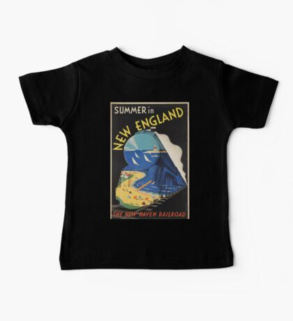 Vintage poster - New England Baby Tee