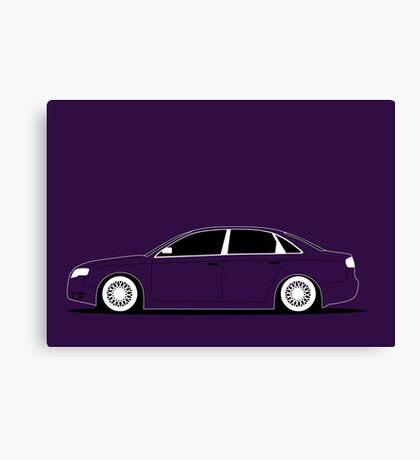 Audi A4 saloon Slammed Canvas Print